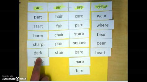 air pattern words ar air are words youtube