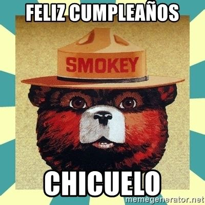 Smokey The Bear Meme Generator - feliz cumplea 241 os chicuelo smokey the bear meme generator