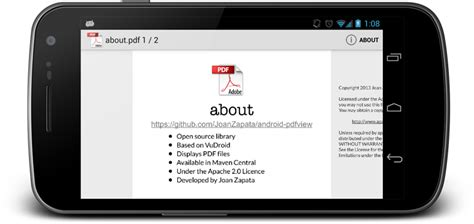 pdf for android the android arsenal android pdfview