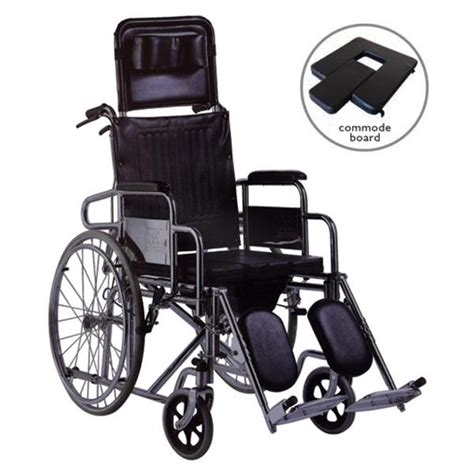 deluxe commode reclining wheelchair w end 5 9 2017 6 15 pm