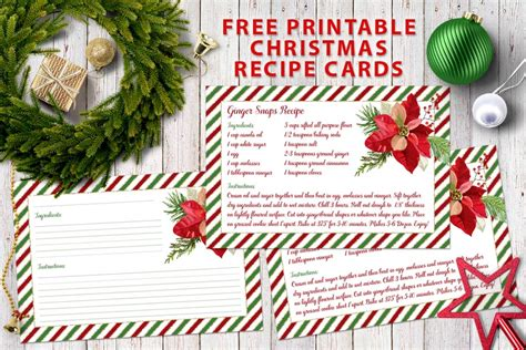 printable holiday recipes free printable christmas recipe cards