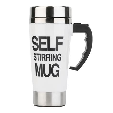 Self Mug Stirring 350ml stainless steel self stirring mug auto mixing tea