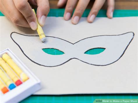 How To Make A Paper Helmet - how to make a paper mask 14 steps with pictures wikihow