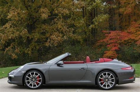 grey porsche 911 convertible 2012 porsche 911 carrera s cabriolet german cars for