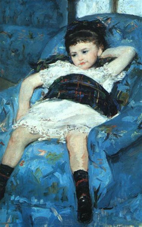 little girl in a blue armchair webmuseum cassatt mary