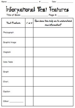 Recount Exle by Non Fiction Text Features Worksheet Worksheets For All