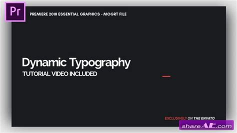 Videohive Dynamic Minimalism Essential Graphics Mogrt Premiere Pro Templates 187 Free After Essential Graphics Templates