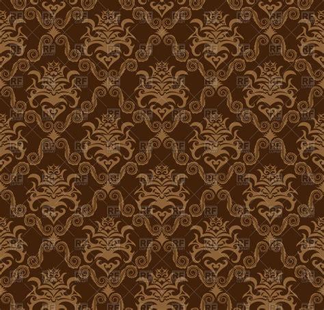 damask seamless pattern vector damask seamless brown pattern vector image 85148 rfclipart