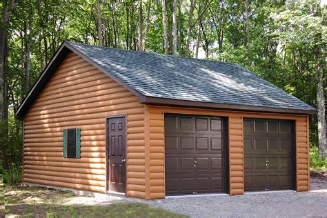 Two Car Garage Plans by Buy A Two Car Garage Building Direct From Pa