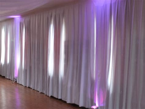 wall drapes hire made to measure white wall drapes for church hall in