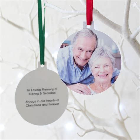personalised hanging decorations personalised memorial hanging decoration by we to