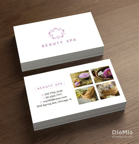 Spa Gift Card - simple spa business cards day spa beauty spa