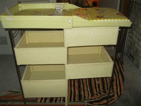 Vintage Wicker Baby Changing Table 1980 Hedstrom Excellent Vintage Changing Tables