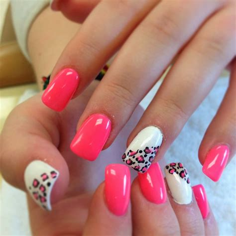 cute pattern nails summer acrylic nail designs