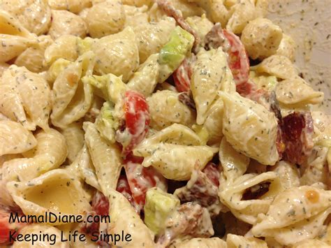 recipe for creamy bacon tomato and avocado pasta salad creamy bacon tomato pasta salad