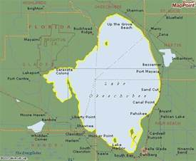 where is okeechobee florida on the map lake okeechobee s five counties 187 twelve mile circle