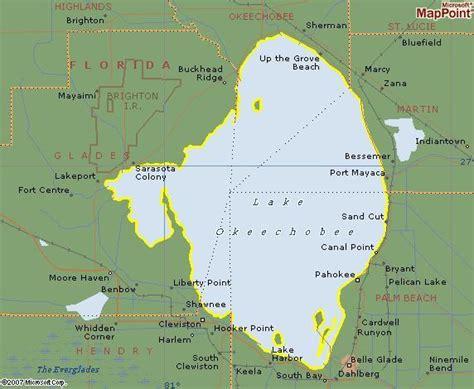 map of lake okeechobee florida lake okeechobee s five counties 187 twelve mile circle