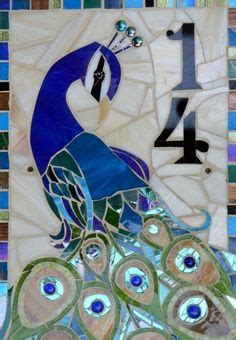 mosaic designs for house numbers peacock house number mosaics pinterest