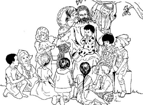imagenes para colorear jesus y los niños departamento de religi 243 n