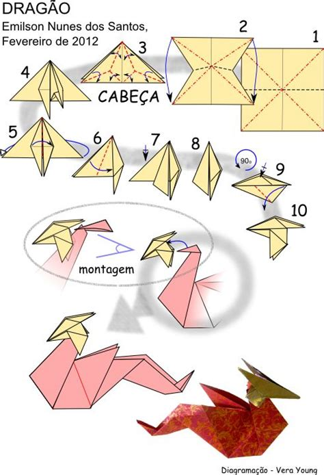 dragon origami tutorial easy origami dragon folding instructions craft pinterest