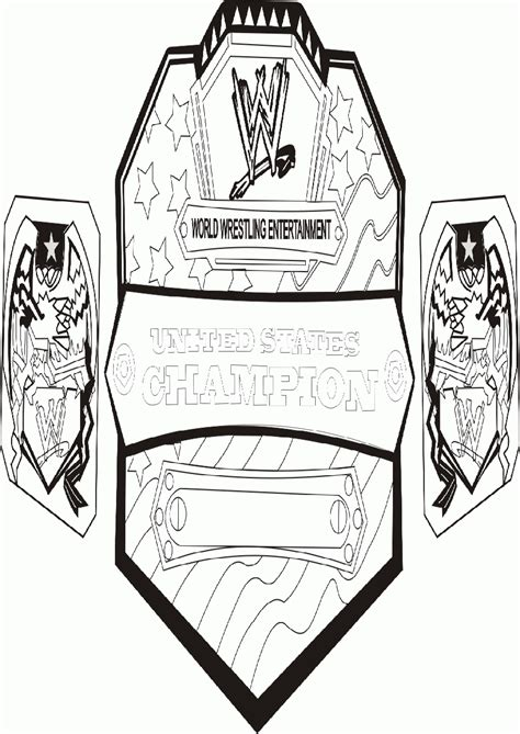 coloring pages wwe belts wwe coloring pages 2015 coloring home