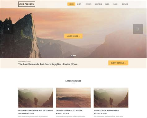 templates bootstrap church 23 church bootstrap themes free website templates