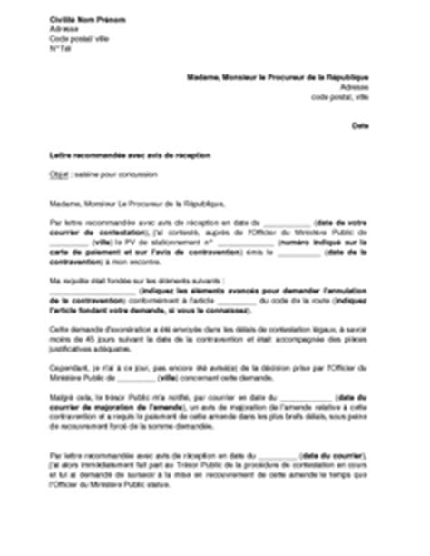 Modele Lettre Au Procureur De La République