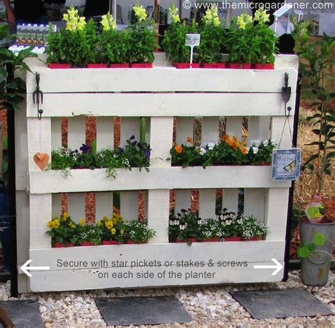 Pallet Planter Ideas by Diy Pallet Planter The Micro Gardener