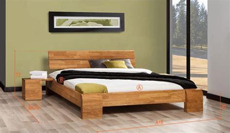 bois de lit 140x190 vente literie en chene massif lit design matelas