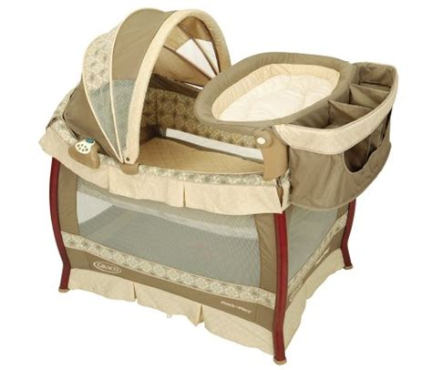 Graco Pack And Play With Changing Table Graco Wood Frame Pack N Play With Bassinet Changing Table In Marlowe For 239 99 With Bassinet