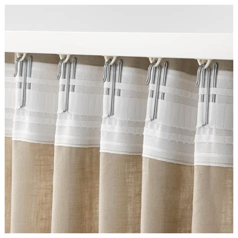 curtains with drapery hooks riktig curtain hook 20 pack ikea