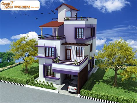 create house triplex house design apnaghar house design page 2