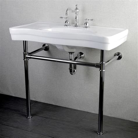 wall mounted sink vanity imperial vintage 36 inch wall mount chrome pedestal