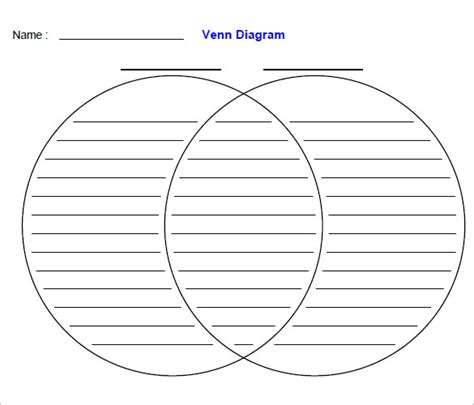 printable venn diagram free venn diagram worksheet templates 10 free word pdf