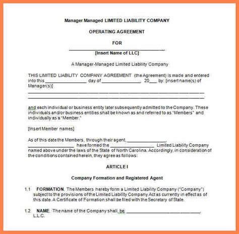 3 multi member llc operating agreement template
