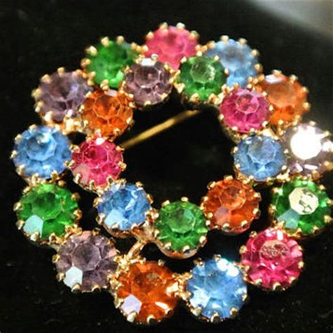 Bross Brooch Fashion Korea Oval Chain best multi colored rhinestone jewelry products on wanelo