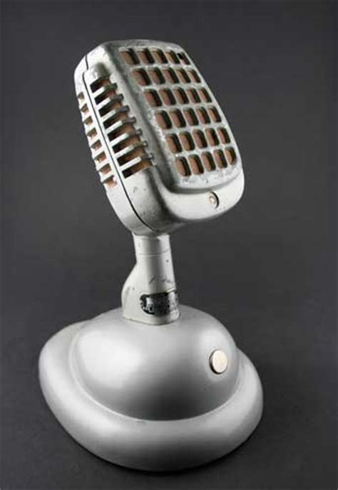 Shure Classic Handmade Quality - vintage microphone world rental props
