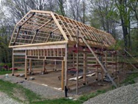 build  pole barn garage step  step