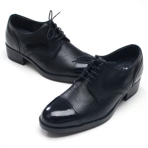 Korean Addicted Leather Shoea increase height dress shoes elevator shoes