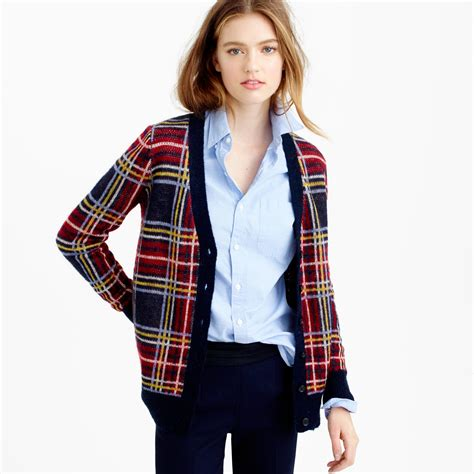 Plaid Sweater plaid cardigan sweater sweater patterns