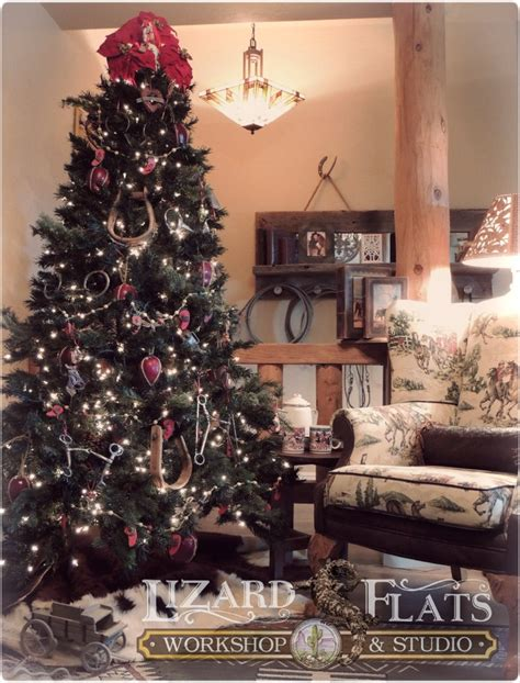 how to decorate a tree in western this western tree is decorated with stirrups bits and spurs stylish western home