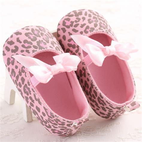 sweet pink leopard newborn baby shoes