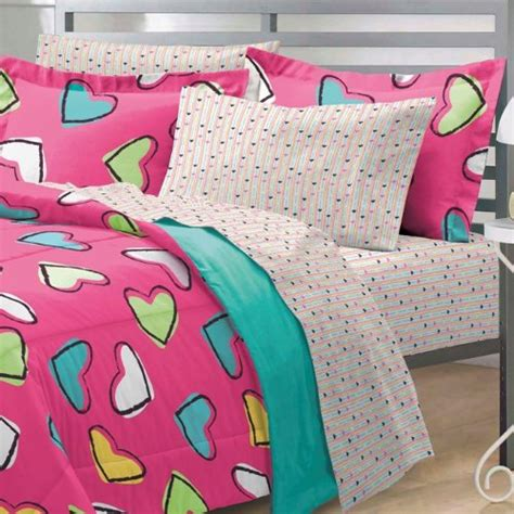 Bright Pink Comforter by Cheap Hearts Ultra Soft Microfiber Comforter Bedding Set