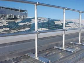 safety railing for your metal roof keeguard metal roof