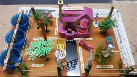 eco house green solution    model  science project