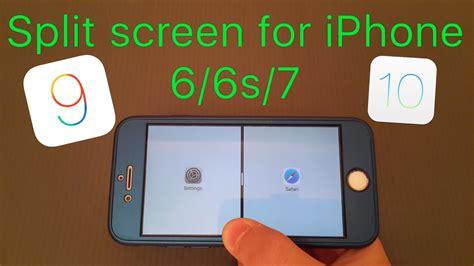 Screen Iphone 6 Pecah split screen for iphone 6 6s 7 ios 9 10 splitify