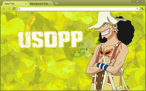 google themes one piece free download one piece google chrome theme usopp by yohohotralala on