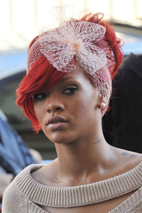 rihanas crazy hair styles rihanna red hair long 2011