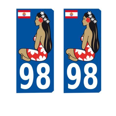 Aufkleber Auto Nummernschild by Sticker Aufkleber Nummernschild 98 Polynesien