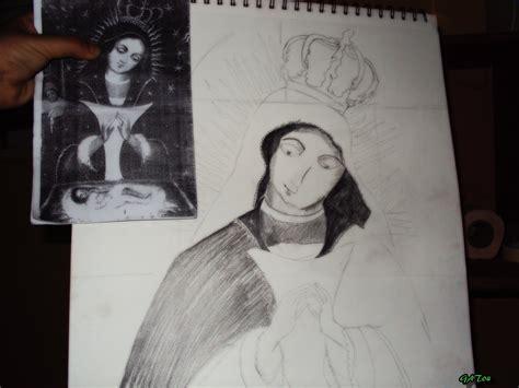 imagenes virgen maria para dibujar dibujo de la virgen maria taringa